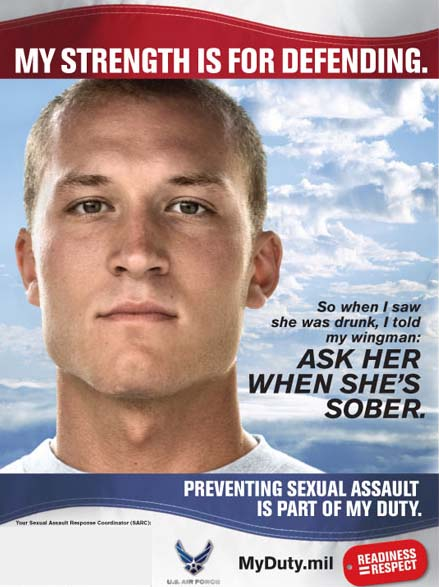 image: Anti-Rape Ad from Hancock Field Air National Guard Base Website