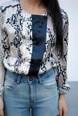 snakeskin blouse by meijia s