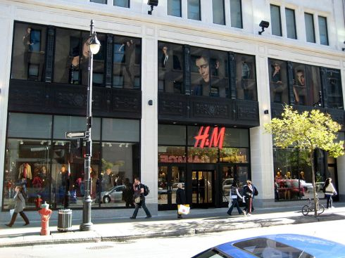 image of H&M storefront from wikipedia