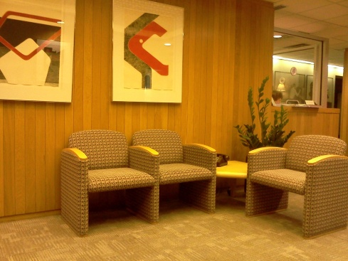 Retro-Looking Office Waiting Room